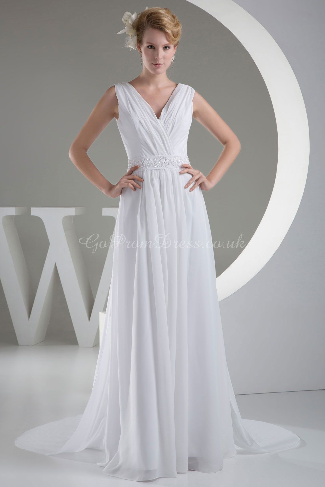 Grecian style wedding dress iud love it with a more defined high