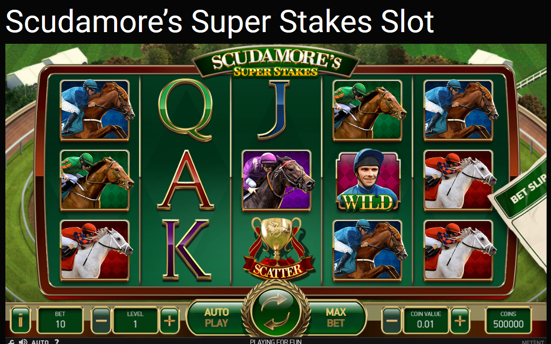 Play Scudamore's Super Stakes Slot for free. Fun online