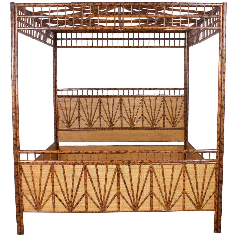 Dramatic KingSize MidCentury MaitlandSmith Canopy Bed