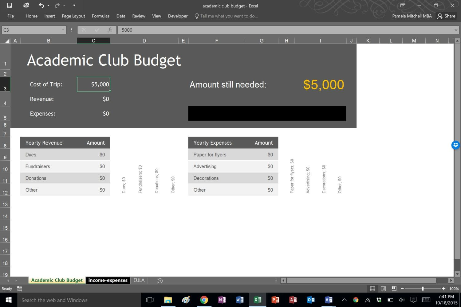 academic club budget template by pmmba on etsy microsoft templates