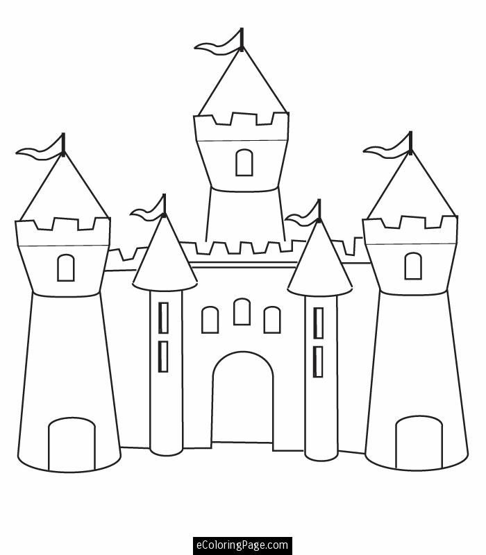 Fun Castle Printable Colouring Page Castle Coloring Page Free