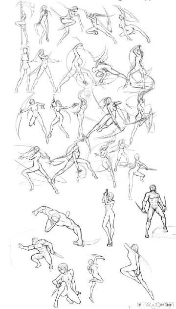 Female combat posed | Art reference poses, Art poses ...