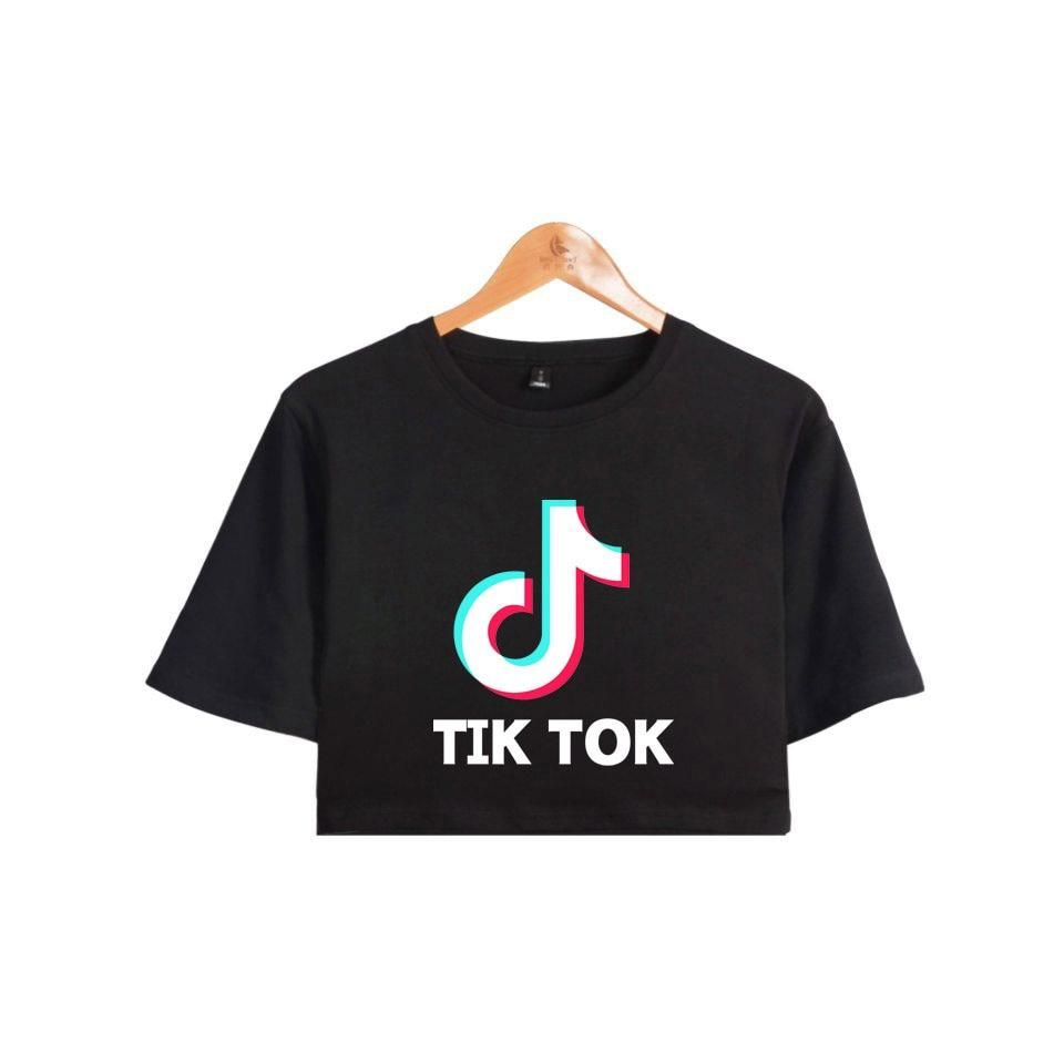 Tiktok Croptop Cropped Tshirt Belly Shirts Cute Lazy Outfits Outfits For Teens