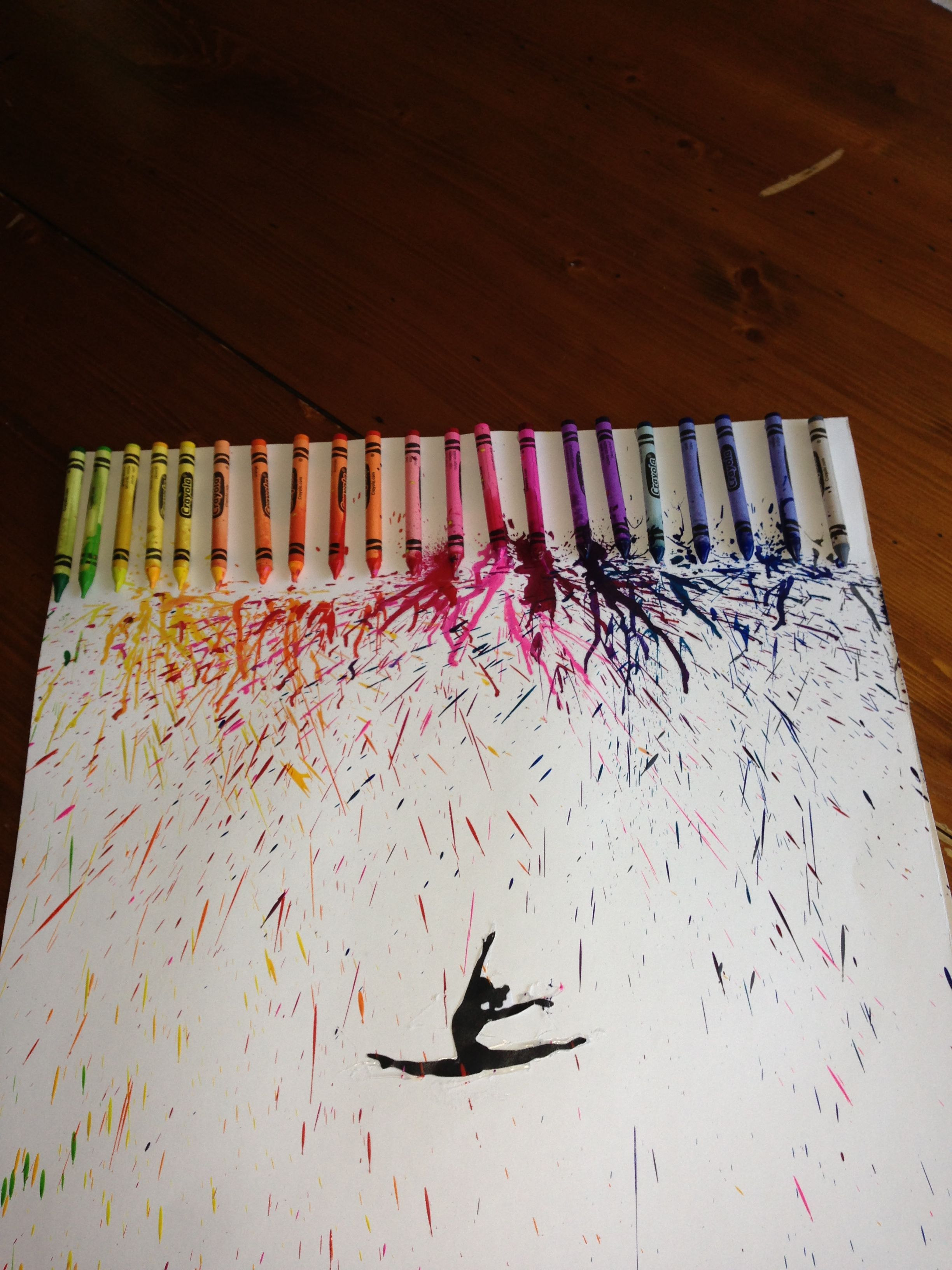 Diy Crayon Art Use Hair Dryer To Melt Crayons Over