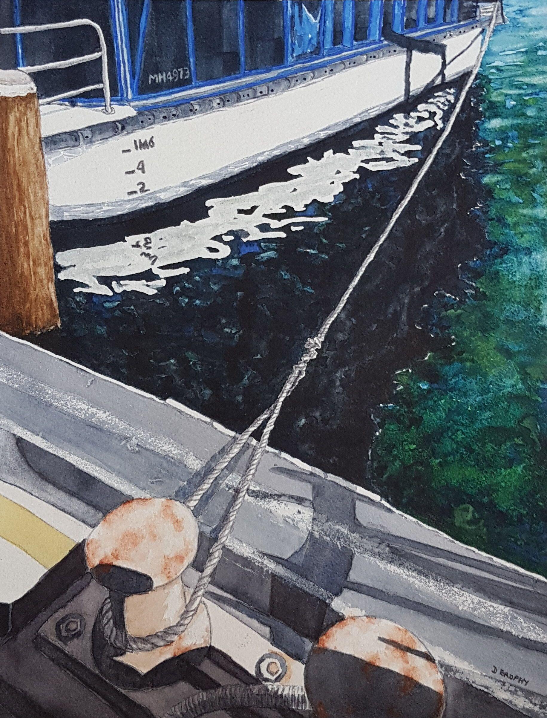 Daytime Mooring Crystal Swan Riverboat Perth By Debbie Brophy Paintings For Sale Bluethumb Online Art River Boat Online Art Gallery Australian Artists