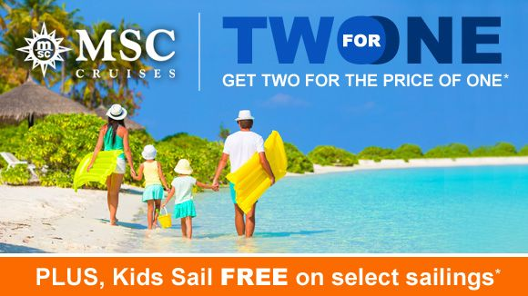 Check Out This Amazing For Deal With MSC Cruises PLUS Kids - Kids sail free