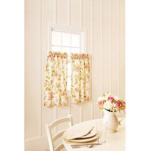 better homes and gardens lilac print kitchen tiers or valance walmart - Better Homes And Gardens Kitchen Ideas