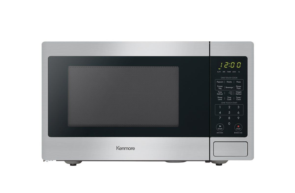 Kenmore 70913 0 9 Cu Ft Countertop Microwave In Stainless Steel