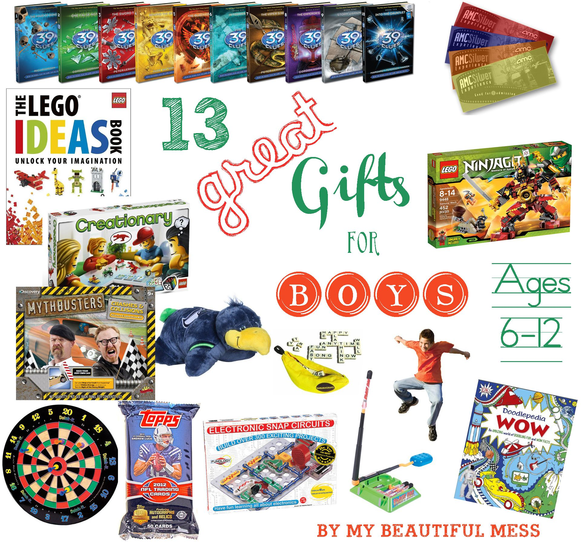 13 Great Gift Ideas for Grade School Aged Boys ages 6 12