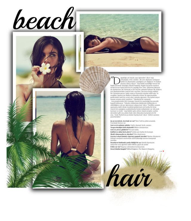 """""""Beach hair don't care"""" by morganledrew ❤ liked on Polyvore featuring beauty, Balmain and beachhair"""