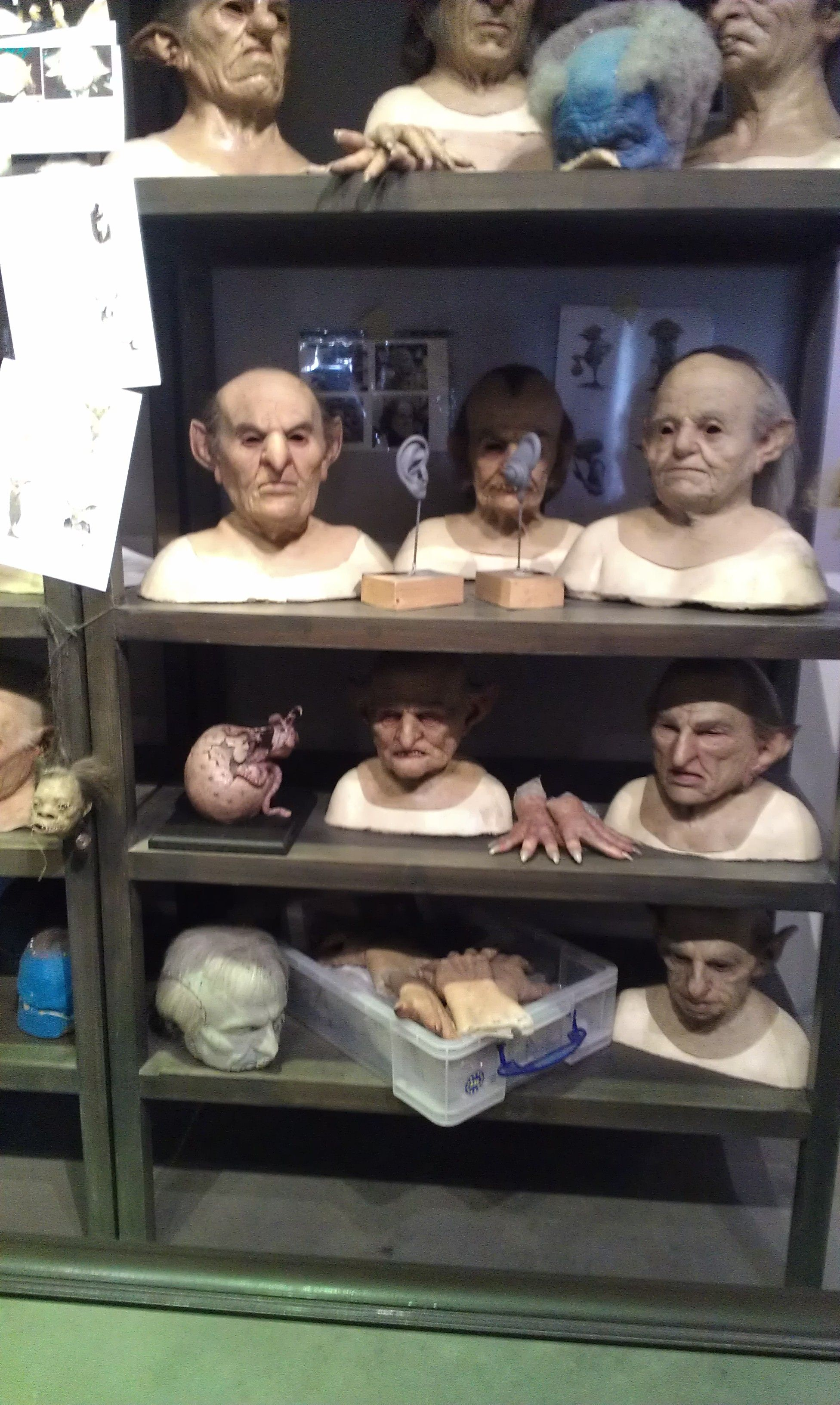 All the on cast masks and accessories