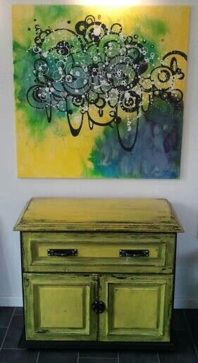 Fits perfectly! Painting by HellyH - Sideboard by MaMaison