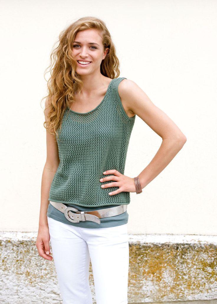 Cotton top for women - knitwear-haekeln.de  - Strickanleitungen - #Cotton #knitwearhaekelnde #Strick...