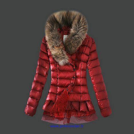 066534f5c07b Doudoune Moncler Paris Pas Cher Femme Rouge Soldes    Moncler Jacket ...