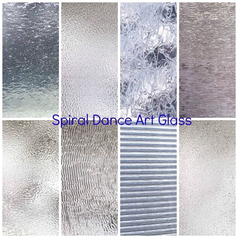 Spectrum Clear Textured Glass Variety 6 X 8 Pack 8 Sheets Stained Glass Spectrumglass Glass Texture Stained Glass Glass