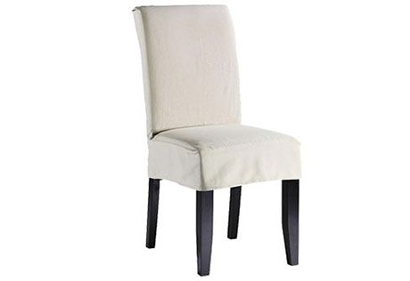 Swell Sure Fit Slipcovers Twill Supreme Short Dining Chair Cover Pabps2019 Chair Design Images Pabps2019Com