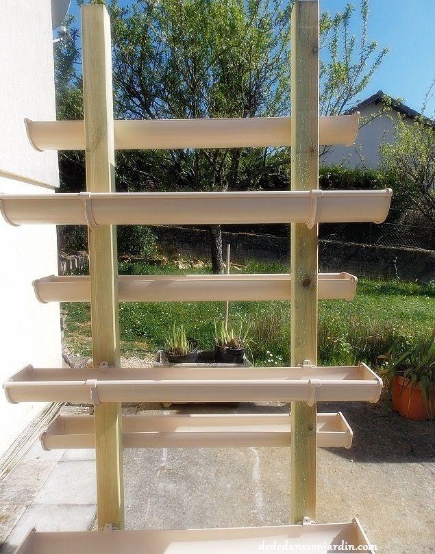 pyramide de fraises en goutti res d i y tuto garden. Black Bedroom Furniture Sets. Home Design Ideas