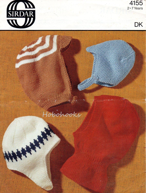 Boys hats knitting pattern boys helmets balaclava DK hats boys ...
