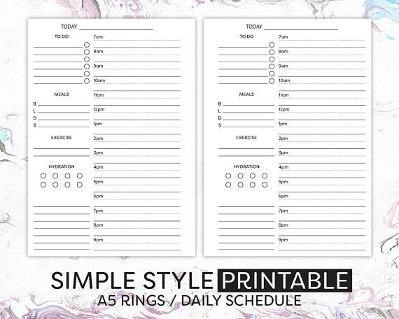 Pin by Hoopla Stationery on Ring Bound Inserts - A5 Size Pinterest