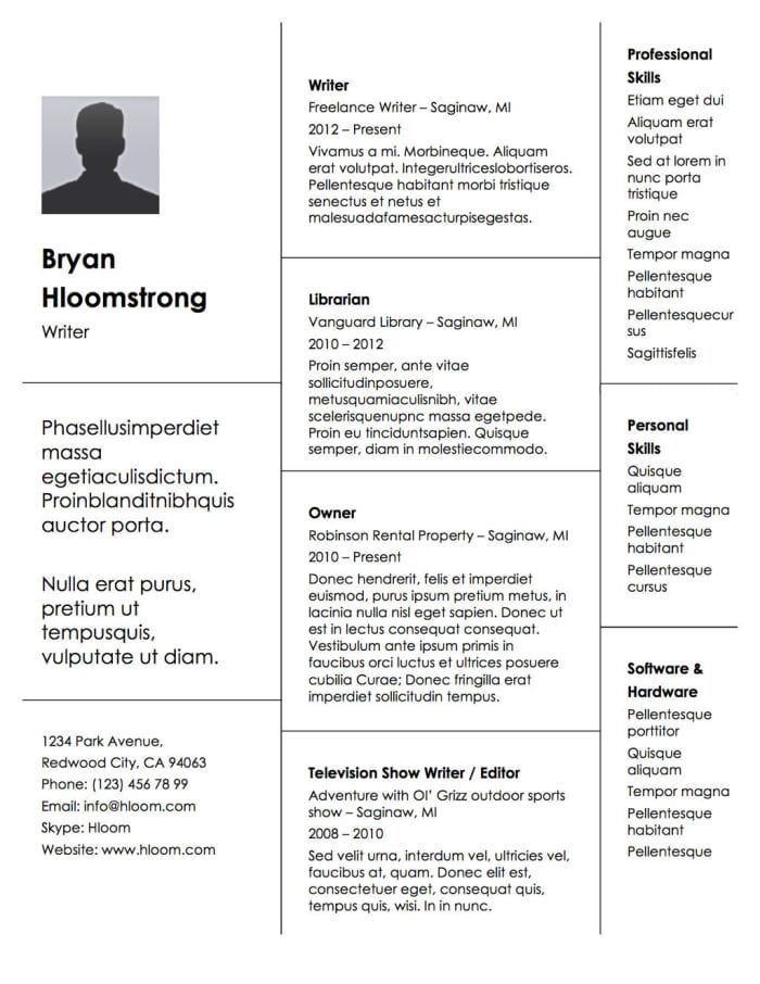21 Free Résumé Designs Every Job Hunter Needs Template - resume library