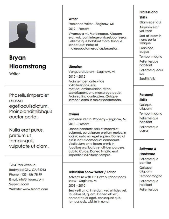 Traditional Resume Templates 21 Free Résumé Designs Every Job Hunter Needs