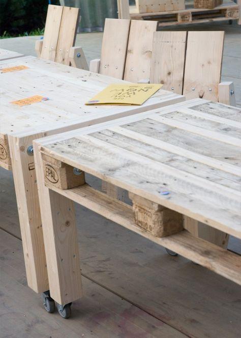 Wow coole Tische aus Paletten! Die gefallen mir gut, ein neues ...