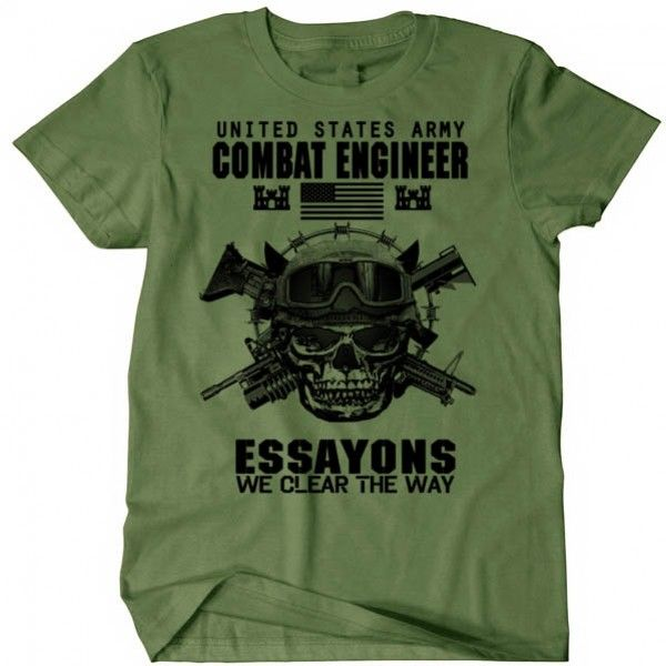 Us Army Combat Engineer T Shirt Sapper Essayons Us Army Army T