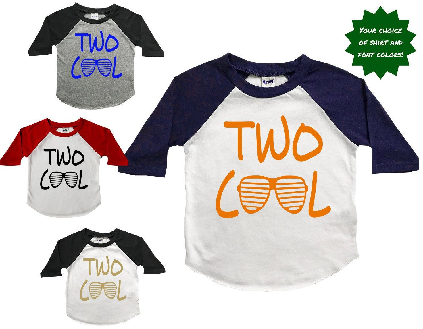 2nd Birthday Shirt Boy Boys Shirts Two Cool Year Old By PeachTeeCo On Etsy