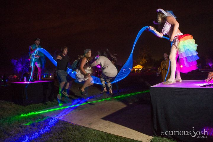 Light Up Jump Rope With An Led Tube Strand These Party People Made A Neon Light Up