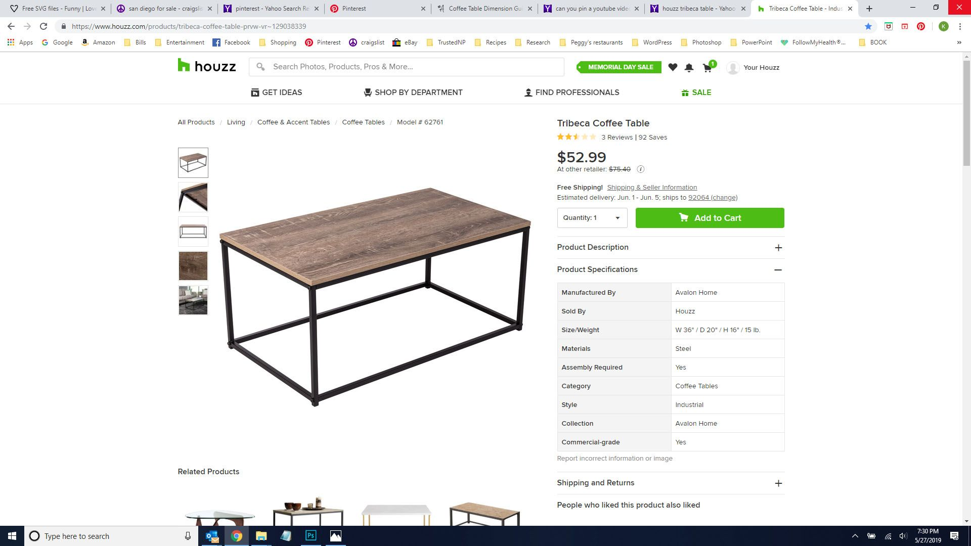Houzz tribeca table coffee table table home decor