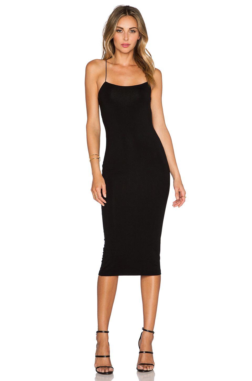 T By Alexander Wang Simple Black Dress Black Dress Accessories Tight Black Dress