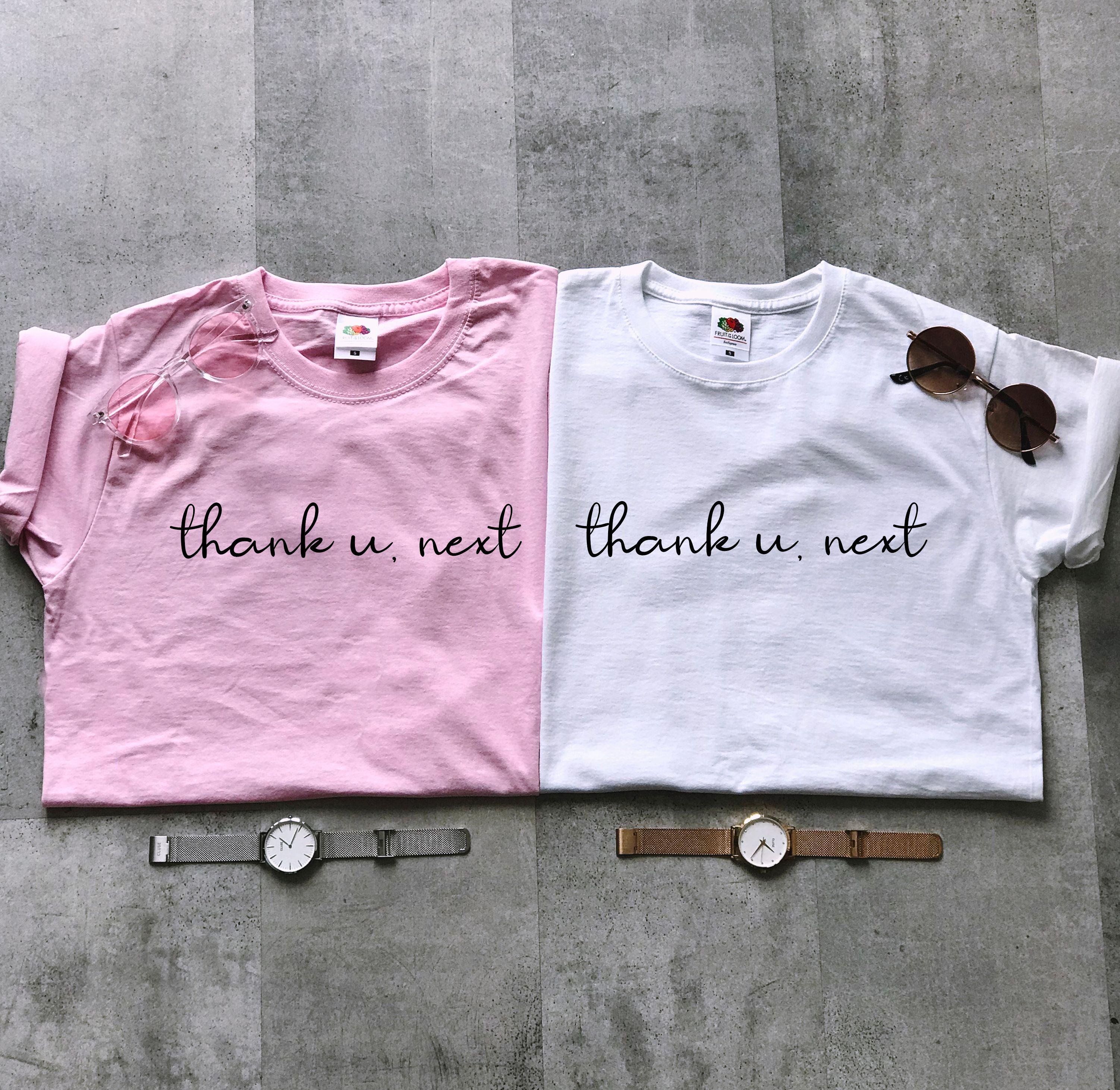 Koszulka Z Nadrukiem Thank U Next Bluzka Z Napisami Thank U Next