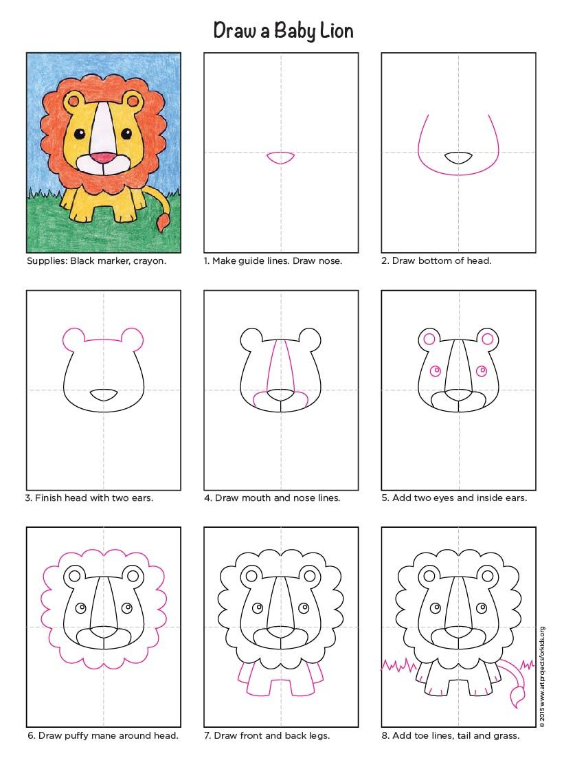 How To Draw A Lion Art Projects For Kids Painting Art Projects Elementary Art Projects Kids Art Projects