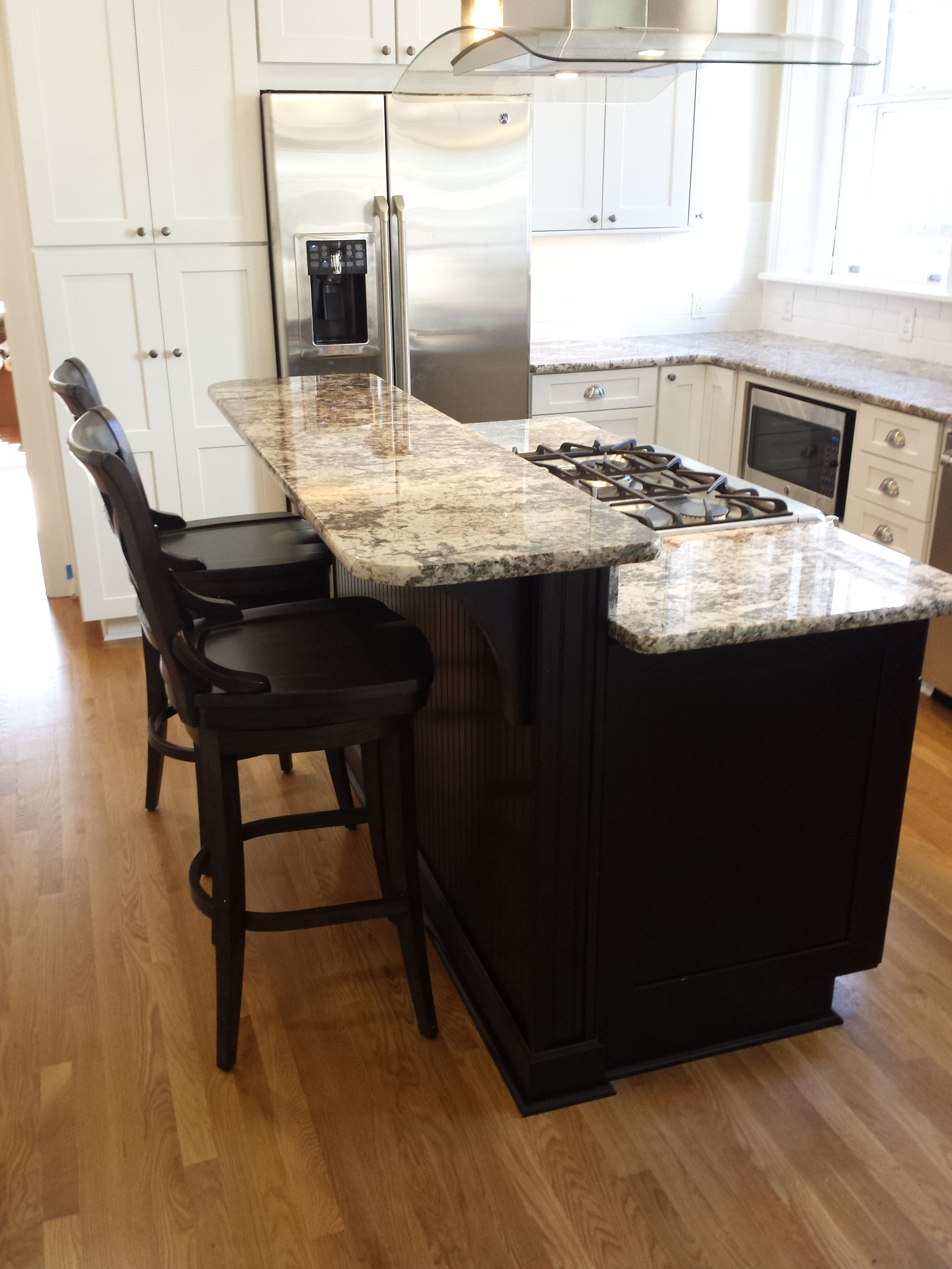 Kitchen Island Raised Bar With Waypoint Kitchen Cabinets Kitchen Island Cabinets Beautiful Kitchens Kitchen Island Raised Bar