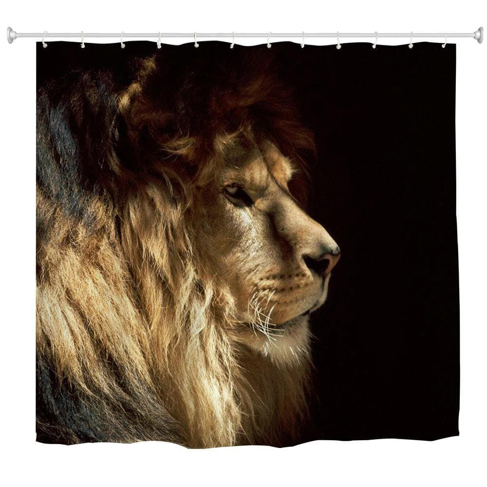 Lion King Water Proof Polyester 3d Printing Bathroom Shower