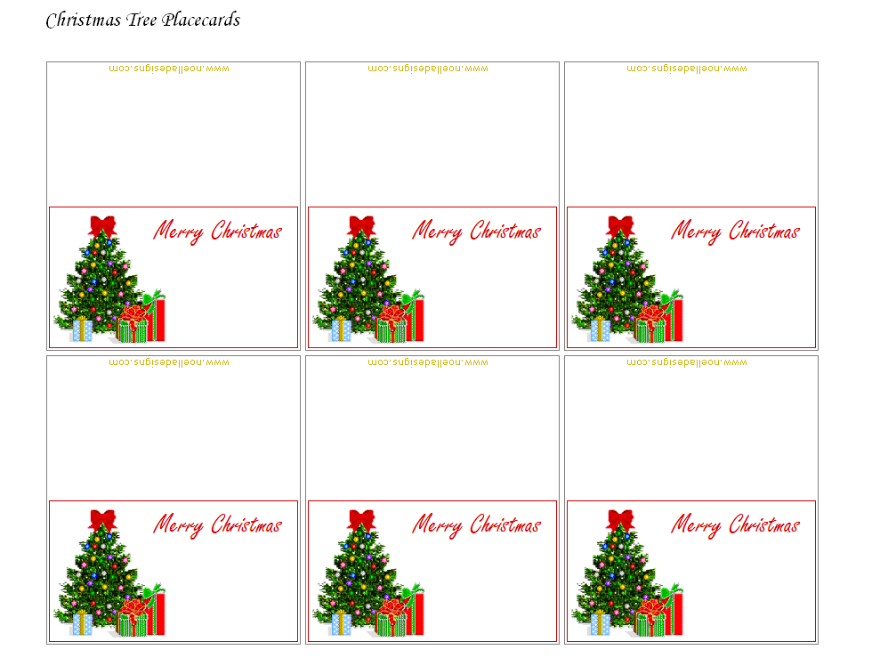 picture relating to Free Printable Christmas Place Cards known as Absolutely free Printable Xmas Placecards - Folded Little ones