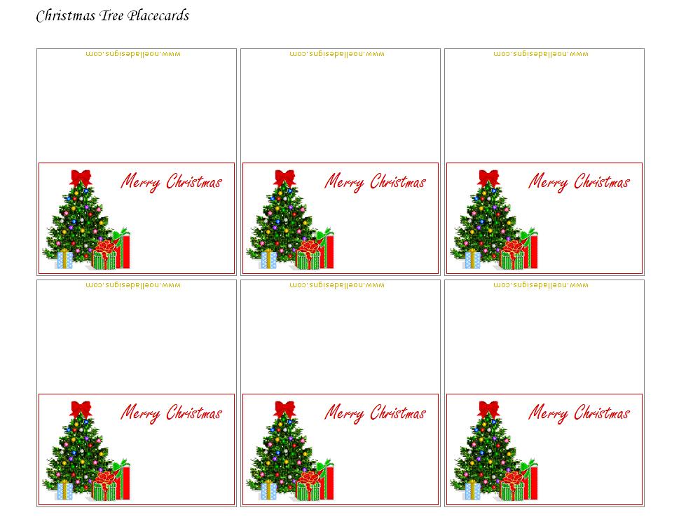 FREE Printable Christmas Placecards - Folded | Kids christmas entertainment | Pinterest | Free ...