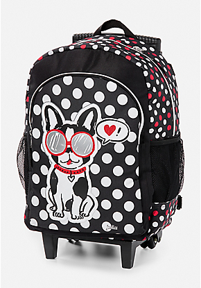 69d300fb12 Pawsitivity Rolling Backpack Girls Rolling Backpack