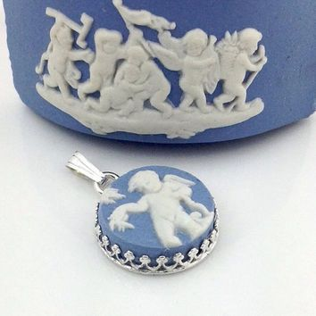 Wedgwood's traditional blue and white jasper ware. Description from etsy.com. I searched for this on bing.com/images