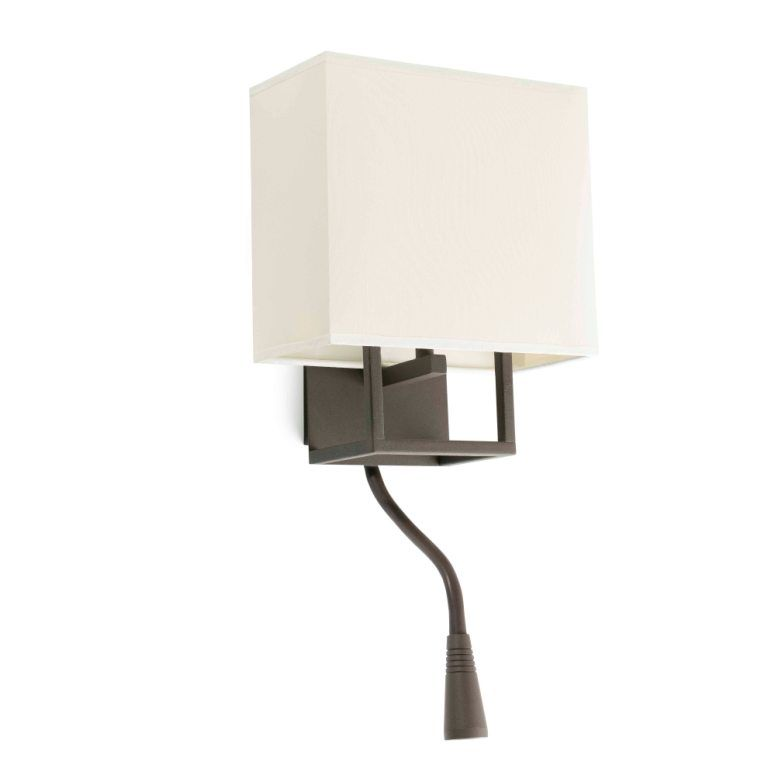 Lámpara de pared con bombilla y lector LED #decoracion #iluminacion #diseño #lamparasinterior #apliquespared #lamparas