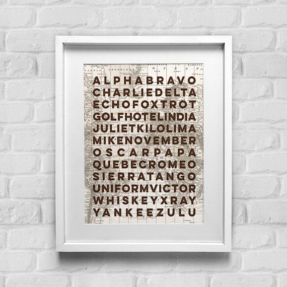 Mao Phonetic Alphabet Sign Alpha Bravo Sign Military Sign Boys Nursery Decor