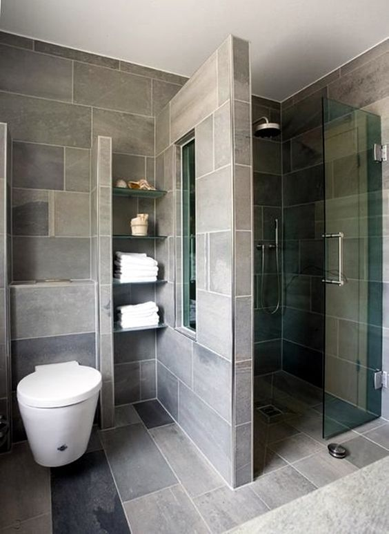 Nis met plankjes of ingebouwde kast contemporary bedroom bathroom designs also extraordinary small for space bathrooms rh pinterest