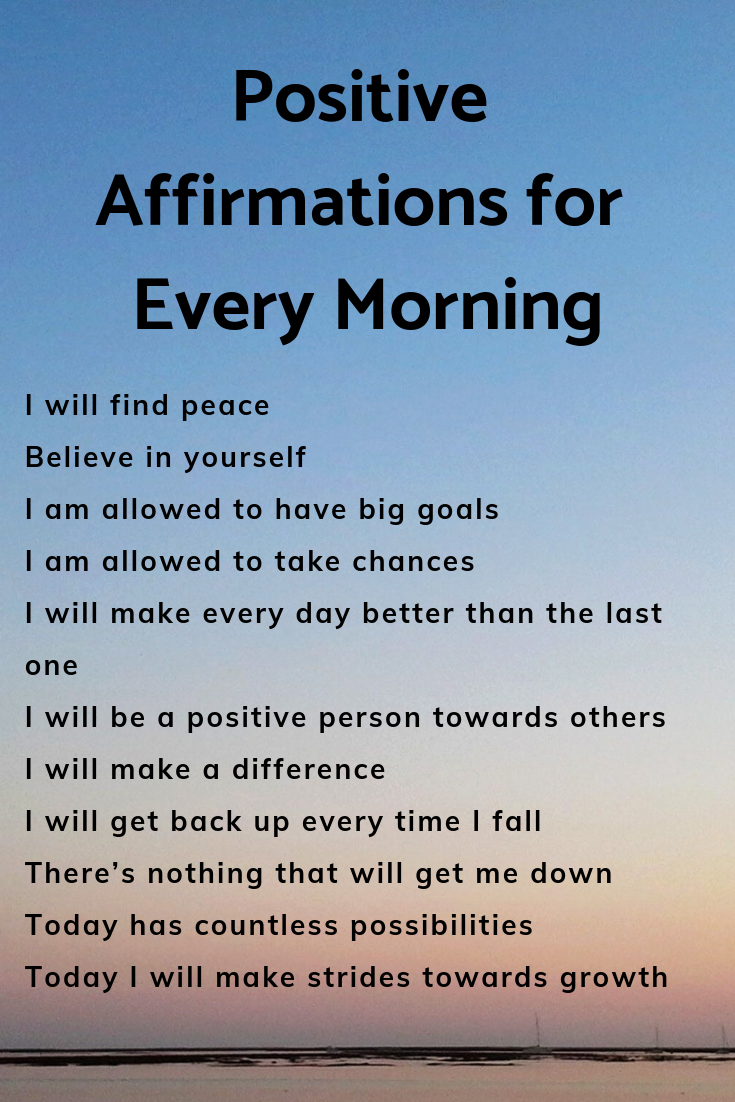 Positive Affirmations for Every Morning