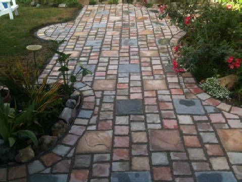 Beautiful Pavers And Cobblestone Stone Cast In Concrete, Cement, Plaster, Molds.