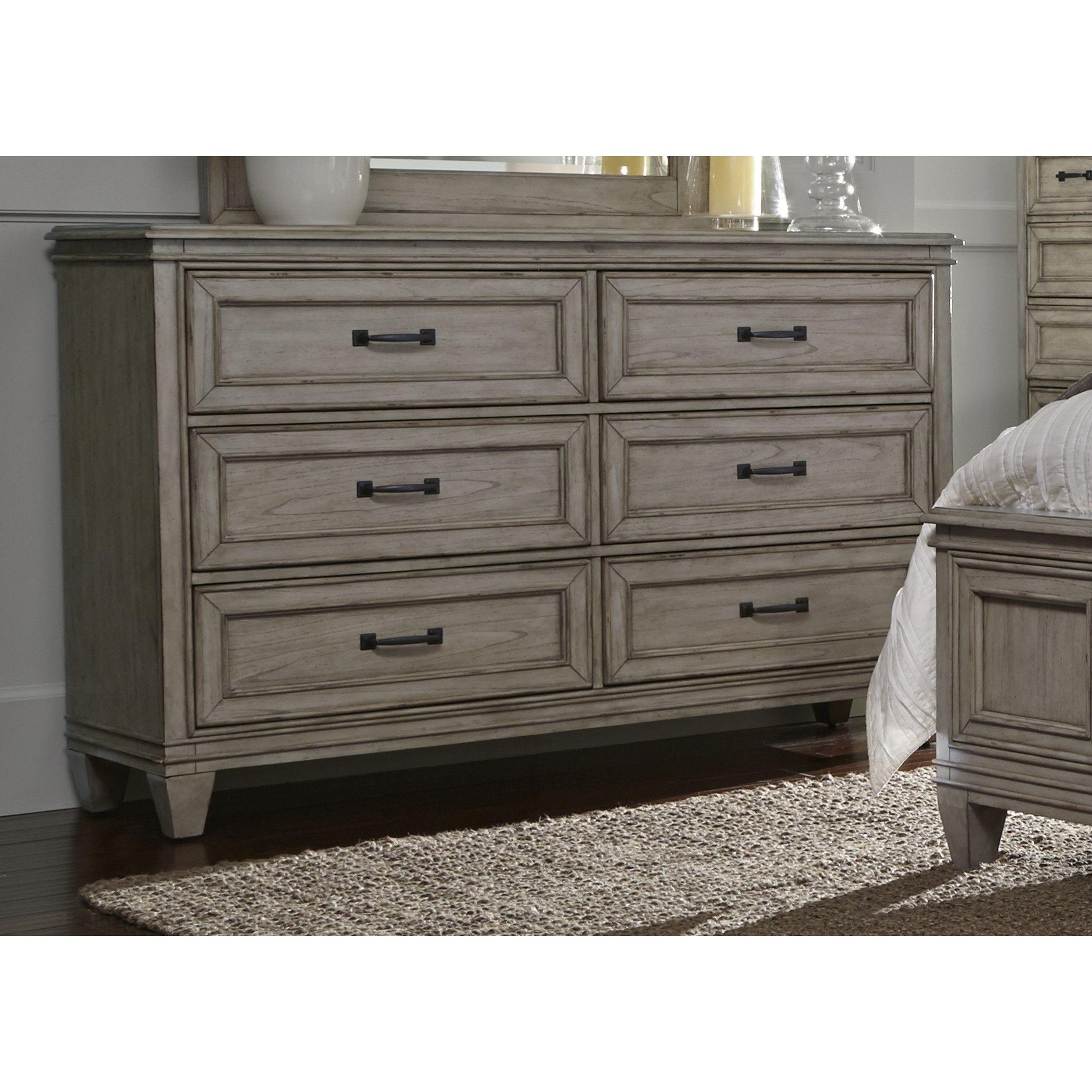 August Grove Grace 6 Drawer Dresser Dresser Furniture Traditional Furniture [ 2100 x 2100 Pixel ]