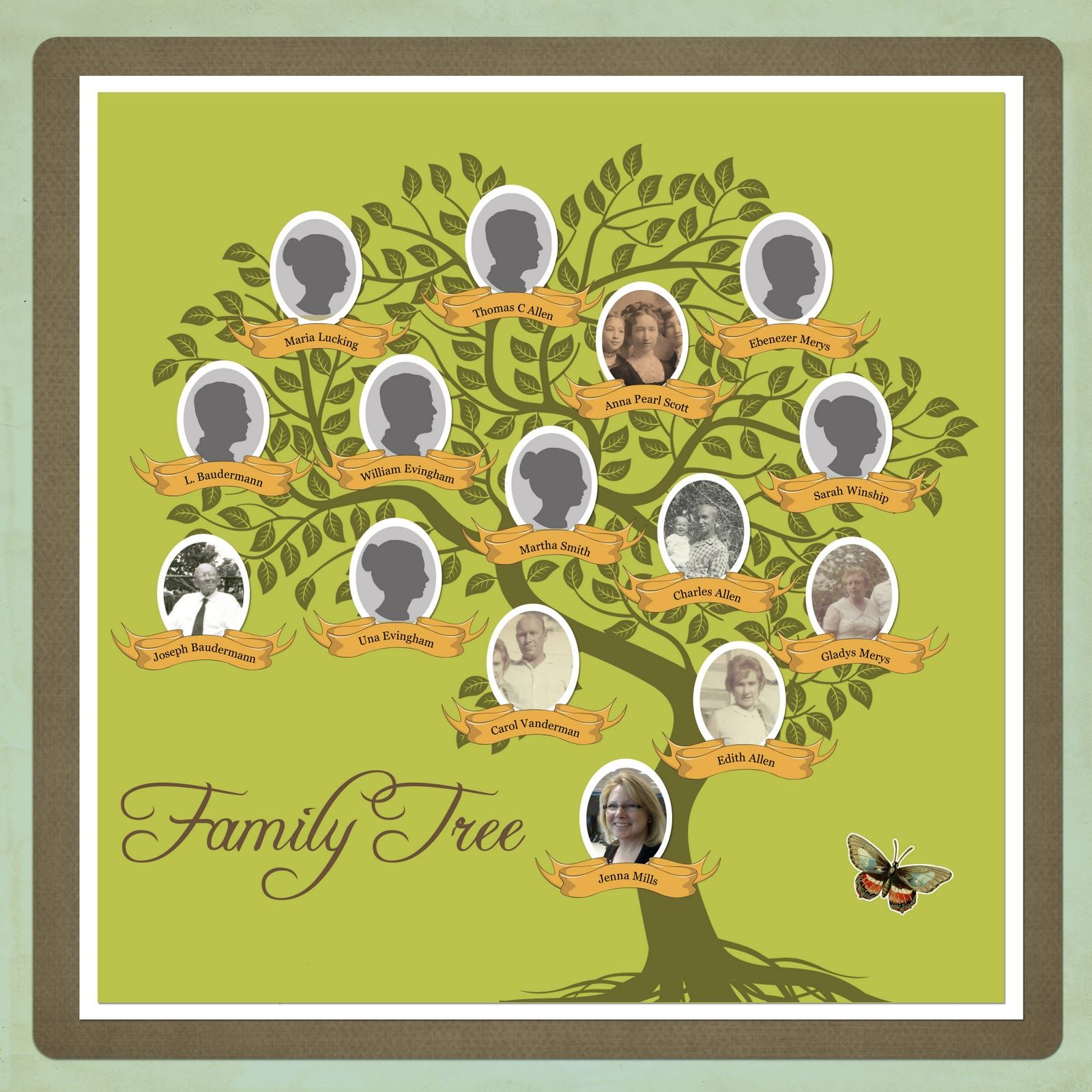 My Family Tree Template Late Im Late For A Very Important Date