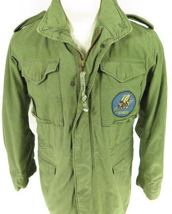 Vtg-70s-ALPHA-INDUSTRIES-M65-OG-107-FIELD-JACKET-military-COAT-S-Long-Seabees-311474289252