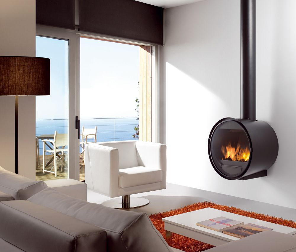 rocal d7 wall mounted multifuel stove from fireplace products
