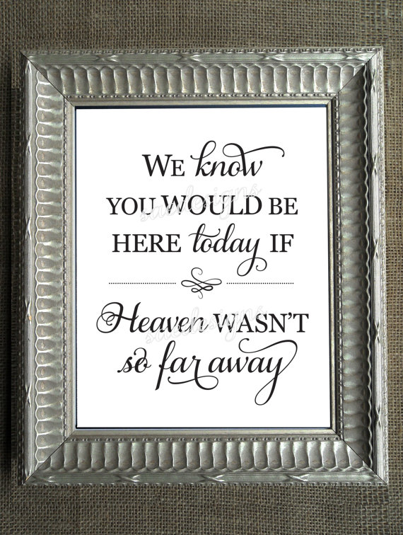 Hey, I found this really awesome Etsy listing at https://www.etsy.com/listing/196302186/wedding-day-2-we-know-you-would-be-here