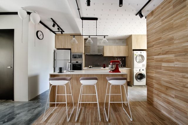 Serangoon Avenue Industrial Executive Maisonette Hdb Interior Design Kitchen Kitchen Envy